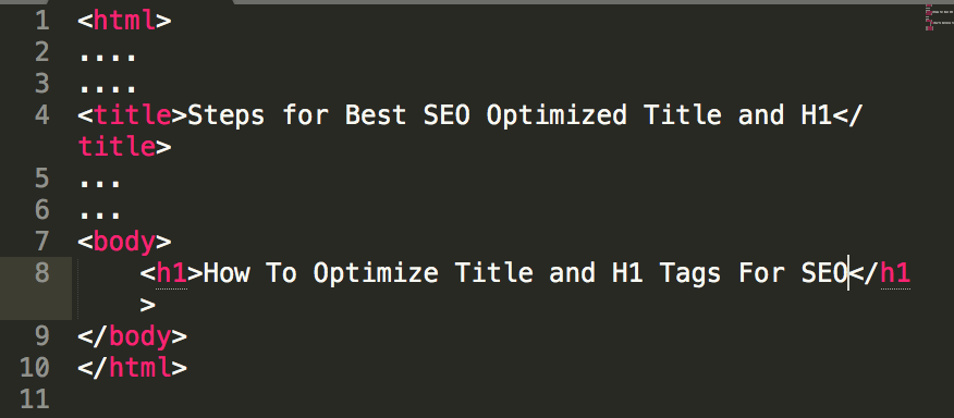 h1 and title tag changed and optimized