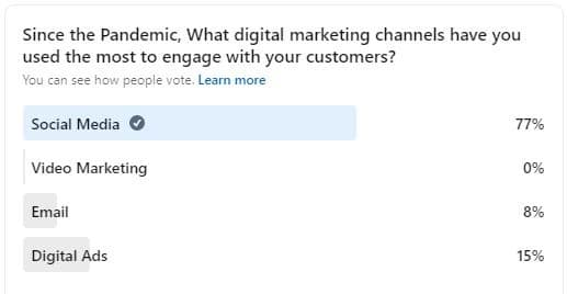 Which marketing channel did you use during the pandemic - Behtash Moojedi